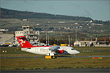 A Euromanx RJ70 lands at Ronaldsway - (1/12/05)