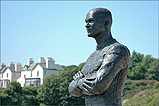 A Statue of Steve Hislop at Onchan Head - (1/7/05)