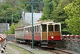 Tram 19 heads into Laxey Station - (8/5/05)