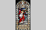 A stained glass window in Malew Church - (1/11/05)