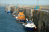 A cold winters afternoon on Port St Mary Harbour - (1/11/05)