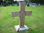 A simple wooden cross in St Georges Churchyard - (3/10/05)