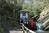 The disused waterwheel in Groudle Glen.
