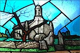 Stained glass window in St Peters Church Onchan - (1/3/06)
