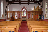 The interior of St Peters Church Onchan - (1/3/06)