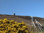 Looking up to Corrin's Folly - (25/4/04)