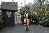 An Entertainer at Douglas Steam Railway Station - (4/12/04)
